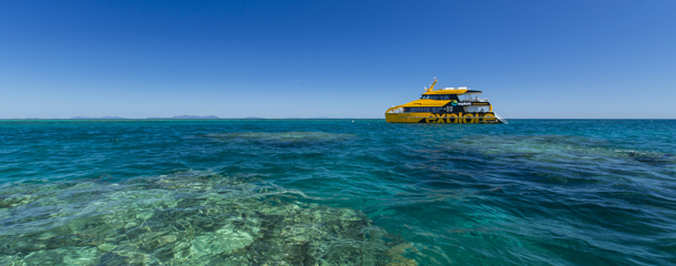 Island Explorer boat at the Great Barrier Reef